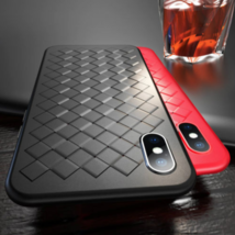 For iPhone XR Plus Woven Soft TPU Silicone Case Cover - $6.97
