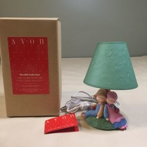 "Avon Gift Collection ""Under The Apple Tree"" Mini Electric Table Lamp NEW  - $24.74"