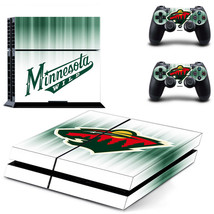 Minnesota Wild PS4 Skin Sticker Decal Vinyl Console + 2 controllers Sony - $12.86