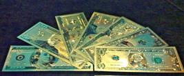 NEW ARRIVAL-8Pc.LOT-GOLD$1,2,5,10,20,50,$100 U.S Rep.*Banknotes W/COA~FR... - $29.27