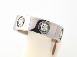 Cartier Love Ring K18WG Full Diamond US 3.5-4 Used Excellent condition  - $1,882.26