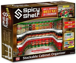 Spicy Shelf Deluxe - Expandable Spice Rack and Stackable Cabinet & Pantr... - £28.57 GBP