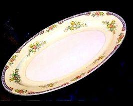 MeitoChina Hand PaintedServing Platter (Tray) AA18-1193M Vintage Large image 4
