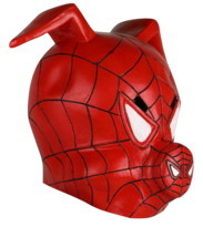 Spider-Man Into the Spider-Verse Spider-Ham Mask Full Movie Cosplay Mask - £23.75 GBP