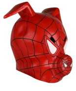 Spider-Man Into the Spider-Verse Spider-Ham Mask Full Movie Cosplay Mask - £21.65 GBP