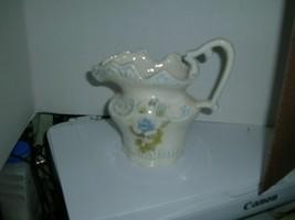 "Arnel's Ceramic Pitcher Vase #B791 Pale blue rose 6.5"" tall - $7.91"