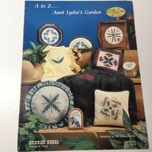 A to Z Aunt Lydia's Garden Cross Stitch Pattern Book Spinning Wheel - $9.74