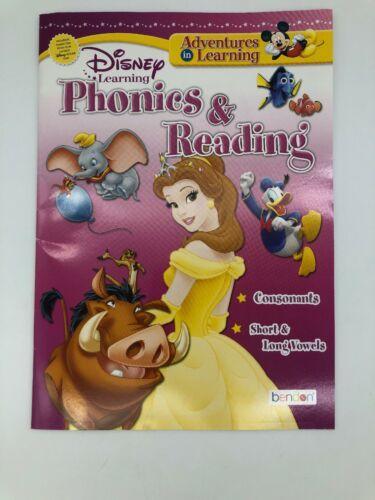 4 Disney Children Educational WORKBOOK Grade Math Phonics Reading Time Money K