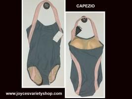 Capezio gray pink leotard web collage thumb200