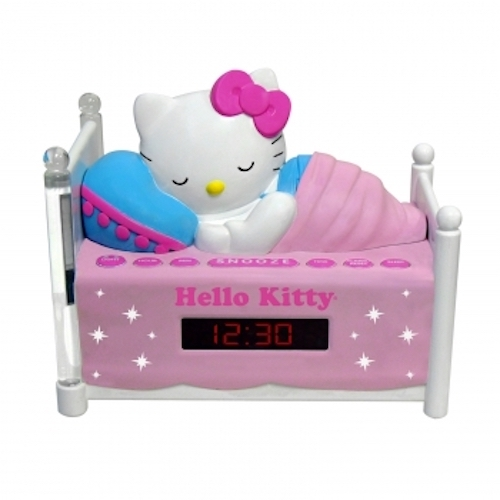 Hello Kitty Sleeping Kitty Alarm Clock Radio with Night Light