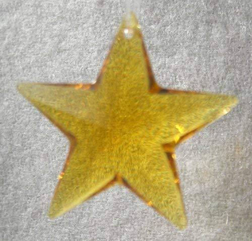 Swarovski 28mm Light Topaz Crystal Star Prism