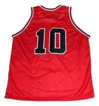 Sakuragi Hanamichi #10 Shohoku Slam Dunk New Men Basketball Jersey Red Any Size image 4