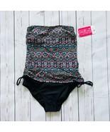 Hula Honey Bandeau One-Piece Side-Tie Swimsuit Women's Jr Small NWT $56.00 - $19.75
