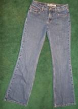 EXPRESS Precision Fit Low Rise Flare Jeans Women JR Ladies sz 3/4 Regular Cotton - $10.77
