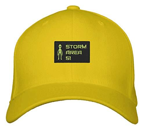 Storm Area 51 Hat - Adjustable Yellow Cap UFO Aliens