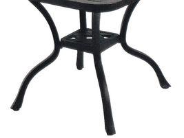 "Patio 21"" Square End Table Nassau set of 4 Cast Aluminum Pool Side Furniture image 4"