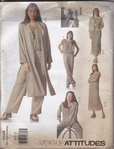 Vogue American Designer 2148 Jacket, Duster, Dress, Pants, Top by Adri 1... - $6.92