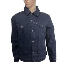 Levis Denim Jacket X-Large Mens Trucker Commuter Pro Hidden Hoodie Indig... - $129.95
