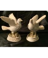 Vintage Japan Pair Ceramic White Doves Figurine - $49.00