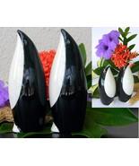 Vintage Pair Penguins Bird Bud Spill Vases HJ Wood Ltd Burslem England - $56.95