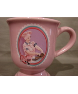 I Love Lucy Pink Footed Coffee Mug Cup Lucy's Chocolate Factory Lucille ... - $5.99