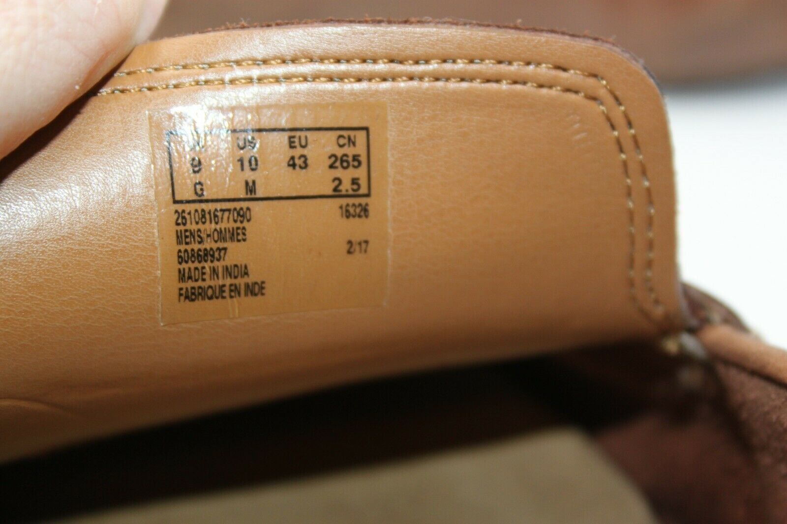 Clarks Size 10M Collection Ortholite Genuine Leather Brown Men's Loafers Shoes