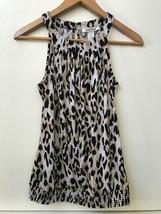 White House Black Market animal print Sleeveless Blouse Tank top womens ... - $15.95