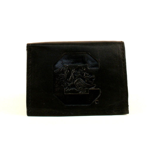 Primary image for NCAA South Carolina Gamecocks Wallet Team Black Tri-Fold Leather  New Logo SEC