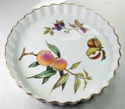 "Royal Worcester Evesham Gold 10"" Quiche Tart Torte Flan Baking Dish Shape 59 - $14.99"