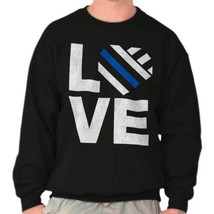 Love Support Thin Blue Line Police Hero Lives Matter Sweatshirt - $18.99+