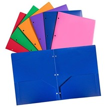 Plastic folders with Pockets and 3holes, Binder folders with Pocket 6pcs... - $25.92 CAD