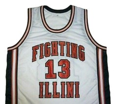 Kendall Gill Fighting Illinois College Basketball Jersey Sewn White Any Size image 1