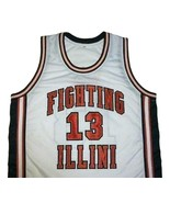 Kendall Gill Fighting Illinois College Basketball Jersey Sewn White Any ... - $29.99+