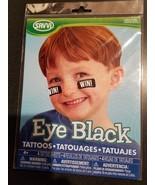 Savvi Eye Black Tattoos - 4 Tattoo Sheets - $4.89