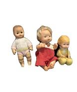 1960 Horseman Molded Hair Baby,1975 Fisher Price, 1975 Mattel Dolls - $49.79