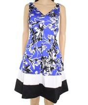 Lauren by Ralph Lauren Women's  Sz 8 Floral Pleated Sheath Dress 2957-3 - $37.02