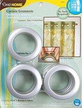 Dritz 1-9/16-Inch Inner Diameter Plastic Curtain Grommets, Brushed Silve... - $18.50