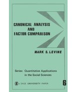 Canonical Analysis and Factor Comparison (Quantitative Applications in t... - $2.25