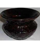Brush McCoy EMBOSSED CUSPIDOR Brown Basketweave Design MADE IN USA - $36.42