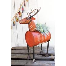 Deer Red Reclaimed Metal Barrel Cooler or Planter with Removable Tub - $263.10