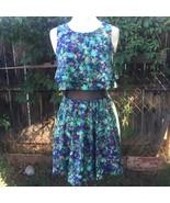 Sz 9 Princess Vera Wang Juniors Floral Mini Dress Sleeveless Black Mesh ... - $14.00