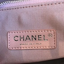 NEW AUTH CHANEL 2019 RUNWAY QUILTED LAMBSKIN 2-WAY SHOPPING BAG PINK TURQUOISE  image 9