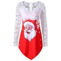 Plus Size Santa Claus Christmas Shirt - $14.05