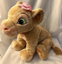 "Jumbo 20"" Lion King ""Young Nala"" Plush Pink Flower Stuffed Animal Disney... - $10.79"