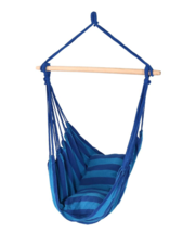 Sunnydaze Hanging Rope Hammock Chair Swing Sunset Blue Oasis - $49.49