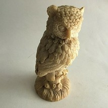 "Owl Figurine Composite/Resin Statue 5.5"" Tall Intricate Design Animal - $10.89"