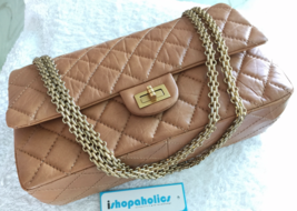 CHANEL CARAMEL TAUPE REISSUE 226 CALFSKIN WITH VINTAGE GOLD HW - $3,100.00