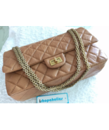 CHANEL CARAMEL TAUPE REISSUE 226 CALFSKIN WITH ... - $3,300.00
