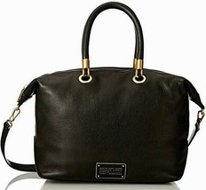 Marc Jacobs Too Hot To Handle Italian Leather Black Top Zip Satchel Bag *Nwt* - $298.00