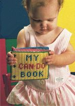 Plastic Canvas Baby Toddler Can DO Book Blocks Tote Tiebacks Tissue Top Pattern. - $9.99